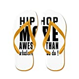 CafePress Hip Hop More Awesome Designs - Flip Flops, Funny Thong Sandals, Beach Sandals