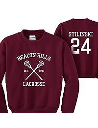 Mars NY Women's Men's Teen Wolf Beacon Hills Lacrosse Stilinski 24 Sweatshirt