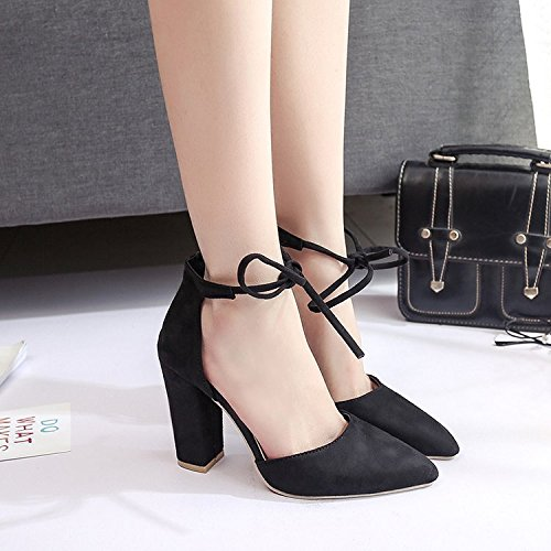 Dony Women's shoes, high heel pointed female summer bandage sandals Thirty-six