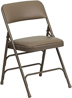 Flash Furniture Hercules Series Curved Triple Braced u0026 Quad Hinged Beige Vinyl UpholsteRed Metal Folding Chair  sc 1 st  Amazon.com & Amazon.com: Storage Rack Folding Chair Cart: Kitchen u0026 Dining