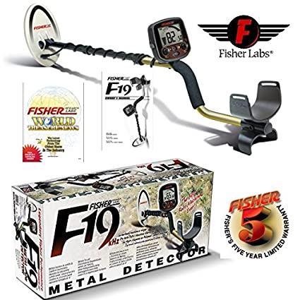 Amazon.com : Fisher F19 Metal Detector Black for Relics and Gold : Everything Else