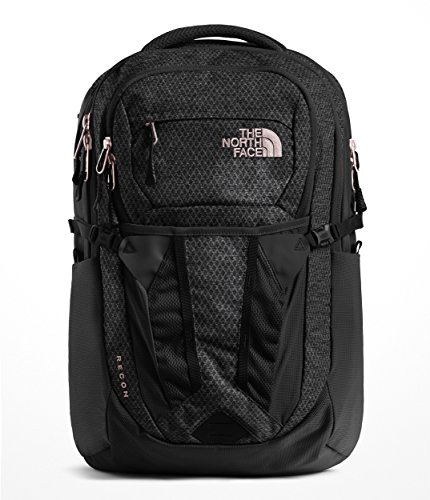 The North Face Women's Recon Backpack - TNF Black Heather & Burnt Coral Metallic - OS