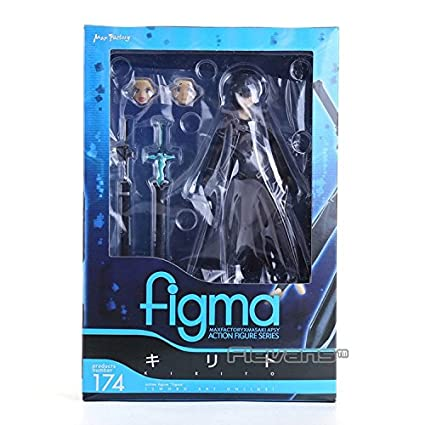 Amazon. Com: anime sword art online kirigaya kazuto figma 174 pvc.