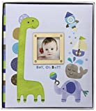 C.R. Gibson First 5 Years Loose Leaf Memory Book, Record Memories and Milestones on 64 Beautifully Illustrated Pages - Boy Oh Boy