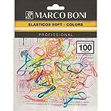 Elásticos Soft Colors Pacote 100 Unidades, Marco Boni, Sortida