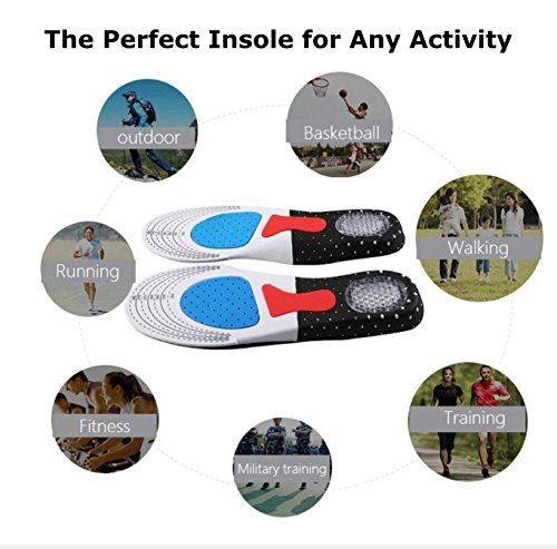 Premium Comfort Gel Sports Inserts |Insoles for Men & Women |Orthotic Cushion|Arch Support Shoe Insert |Plantar Fasciitis & Sore Feet Relief (Large (M): 7.5-12 / (W): 9-13) by Better Everyday (Image #6)