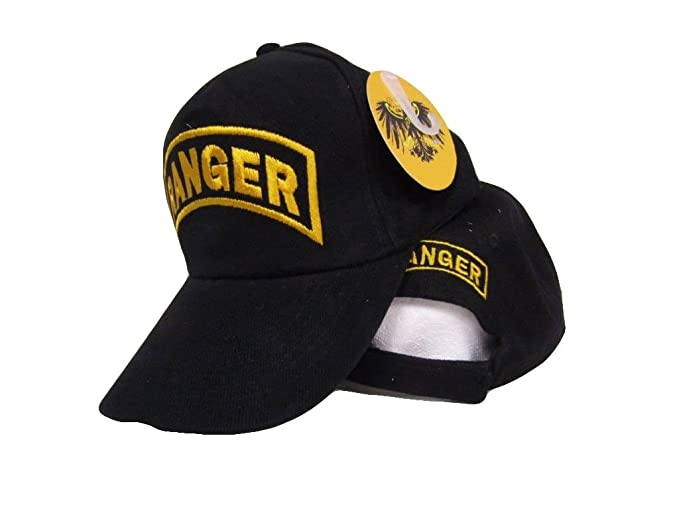 6553bc0a Image Unavailable. Image not available for. Color: Moon Army Ranger Gold Letters  Embroidered Black Dad Hat Baseball Cap ...