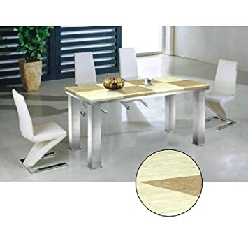 Brilliant Glitter Cream Marble Effect Stone Dining Set 6 Z Chairs Machost Co Dining Chair Design Ideas Machostcouk
