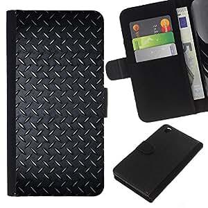 Planetar® Modelo colorido cuero carpeta tirón caso cubierta piel Holster Funda protección Para HTC DESIRE 816 ( Diamont Plated Steel Grunge Pattern )