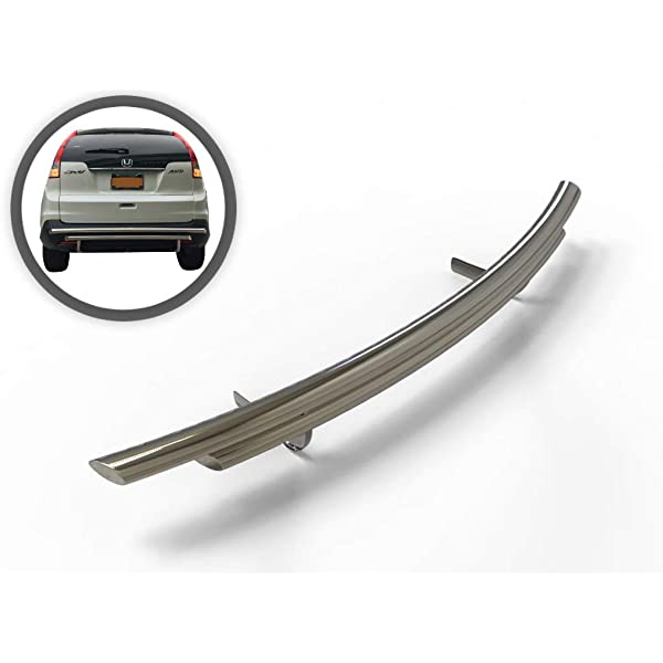 Vanguard VGRBG-0712SS Compatible with Honda CRV 2007-2016 Rear Bumper Guard Stainless Steel Double Tube Style