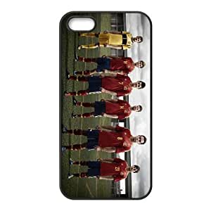 Sports soccer players iPhone 5 5s Cell Phone Case Black Customized Gift pxr006_5249636