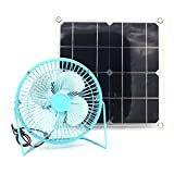 Yingtou Solar Fan 10w 6 inch Blue Powered for Outdoor Home Cooling Ventilation
