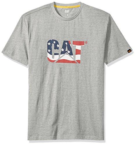 - Caterpillar Custom Logo T-shirt, Flag, 2X - Large