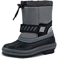 TF STAR Boys & Girls Toddler Ankle mid Calf Winter Snow Boots, Outdoor Waterproof Cold Weather Snow Boots