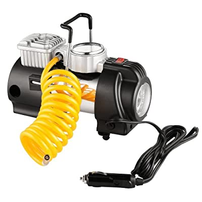 RAD Sportz 12 Volt Electric Co-Pilot Air Compressor with Gauge for Bike/Auto