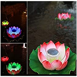 Solar Light, Hatop Floating Underwater LED Light Glow Show Swimming Pool Hot Tub Spa Lamp, Random Color
