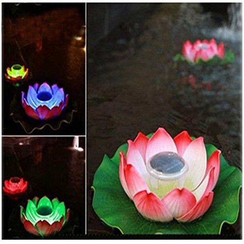 Solar Light, Hatop Floating Underwater LED Light Glow Show Swimming Pool Hot Tub Spa Lamp, Random Color