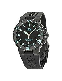 Oris Aquis Date Automatic Black Dial Black Rubber Mens Watch 733-7653-4725RS