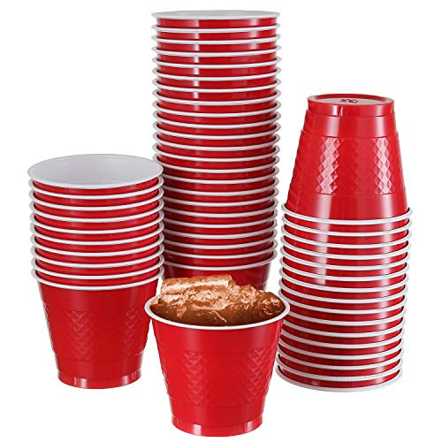 50 Pack | 9 -Oz Disposable Cups | Big Party Plastic Cup Perfect For Birthday Party's Tableware| -