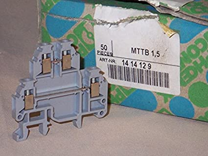 Amazon com: DIN Rail Terminal Blocks 4 2mm MINI DBL BLOCK (1