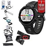 Garmin Forerunner 735XT GPS Running Watch Run-Bundle - Black/Gray (010-01614-12) + 7 Pcs Fitness Kit + 1 Year Extended Warranty