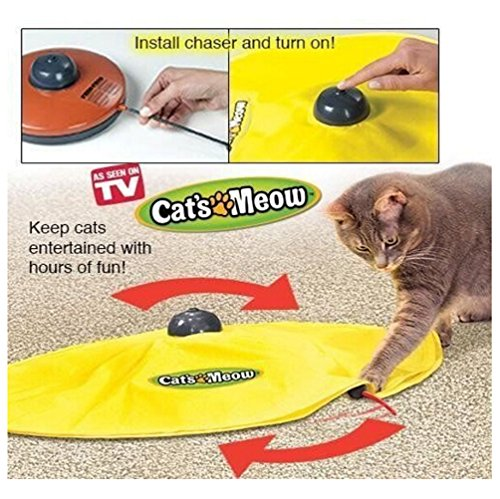 Cat Toy Mouse Exercise Playing Interactive Toy Game Electronic Motion Pet Toys 4 Speeds Undercover