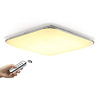 Kusun 50w 4000lm square utral slim led ceiling lights remote kusun 50w 4000lm square utral slim led ceiling lights remote control fully dimmable hue mozeypictures Gallery