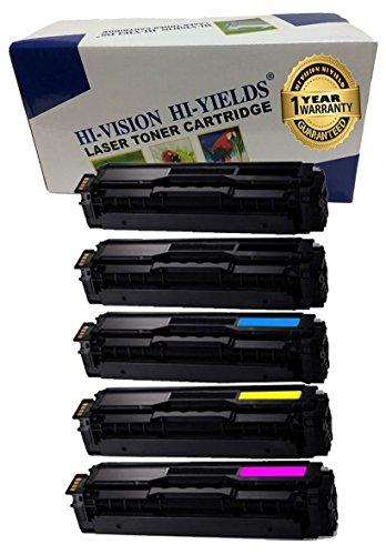HI-VISION HI-YIELDS Compatible Toner Cartridge Replacement for Samsung CLT-K504S CLT-C504S CLT-Y504S CLT-M504S (2 Black, 1 Cyan, 1 Yellow, 1 Magenta, ()