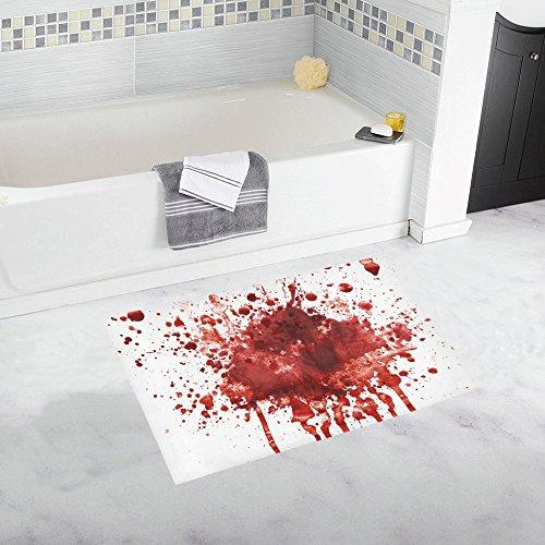 InterestPrint Funny Splattered Blood Stain Horror Halloween Home Decor Non Slip Bath Rug Set Absorbent Floor Mats for Bathroom Tub Bedroom Large Size 20 x 32 Inches -