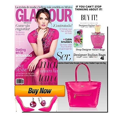 à sac en italien sac main Valentino bandoulière à rose cuir Orlandi Designer clouté qFxa6PS