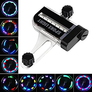 Waterproof Bike Wheel Lights, 30 colorful Patterns Safe Bicycle Tire Spoke Lights With Battery Powered, For Kids Adults Bike Accessory