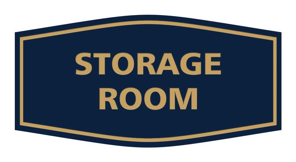 Medium Brushed Silver Signs ByLITA Fancy Storage Room Sign