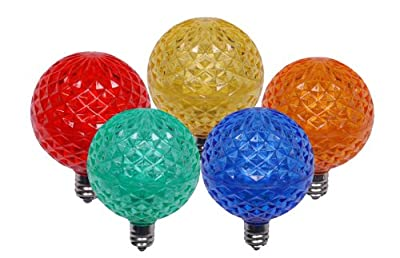 5-Multi Color G40 LED Retrofit Christmas Bulb Replacement