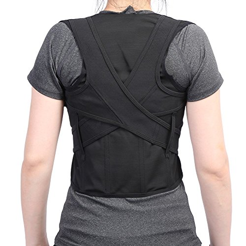 ZJchao Shoulder Back Waist Support Strap, Super Breathable Mesh Panels Adjustable Adult Children Posture Corrector Shoulder Thoracic Lumbar Brace Belt (XXXL)