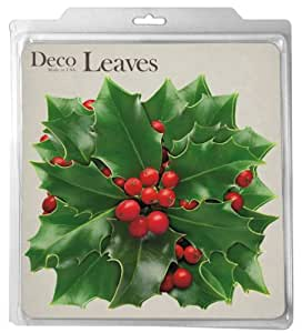 EuroQuest Imports Holly Parchment Leaves, Set of 20