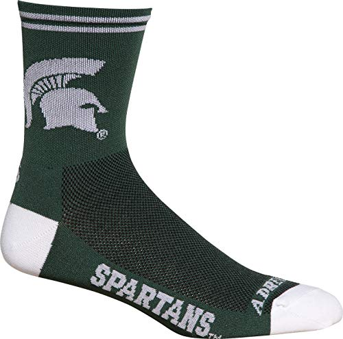 (NCAA Michigan State Spartans Men's Socks, Small/Medium)