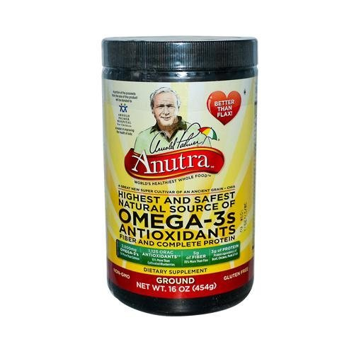 2 Packs of Anutra Omega 3 Antioxidants Fiber And Complete Protein Ground - 16 Oz by Anutra