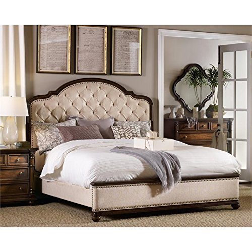 Hooker Furniture Leesburg Upholstered King Bed in Mahogany by Hooker Furniture