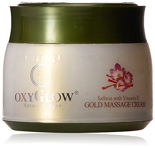 Oxyglow Saffron and Gold Vit E Massage Cream, 200g