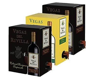 Bag in Box Vino 2 Cajas de 5 litros de Vino tinto y 1 caja ...
