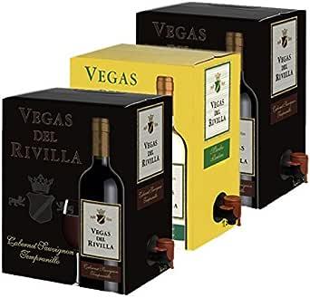 Bag in Box Vino 2 Cajas de 5 litros de Vino tinto y 1 caja de 5 ...