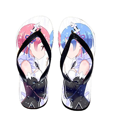Bromeo Life in a different world from zero Anime Unisex Flip Flops Chanclas 804