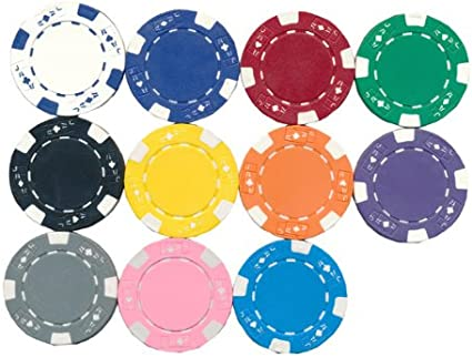 100 Orange Suited 11.5g Clay Poker Chips New