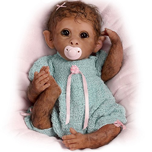 (The Ashton-Drake Galleries So Truly Real Weighted And Fully Poseable Baby Monkey Doll By Linda Murray)
