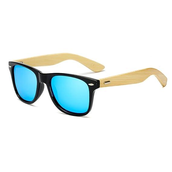 Gafas de sol de bambú de Juleya Gafas de sol polarizadas para mujer C5 del vintage