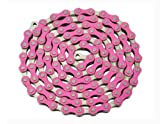 YBN Chain 1/2x1/8x112 Pink/Chrome. for bicycle Chain, bike chain, lowrider bikes, beach cruiser, chopper, limos, stretch, bmx, track fixie bicycles