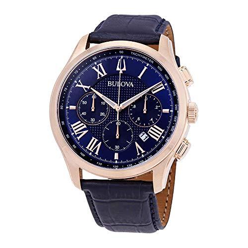 - Bulova Men's Wilton - 97B170 Blue One Size