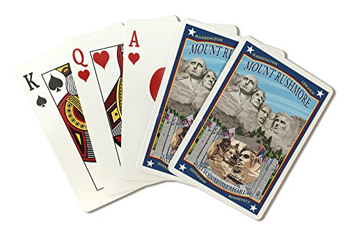 Mount Rushmore National Memorial, South Dakota (Playing Card Deck - 52 Card Poker Size with - Las Vegas South Premium
