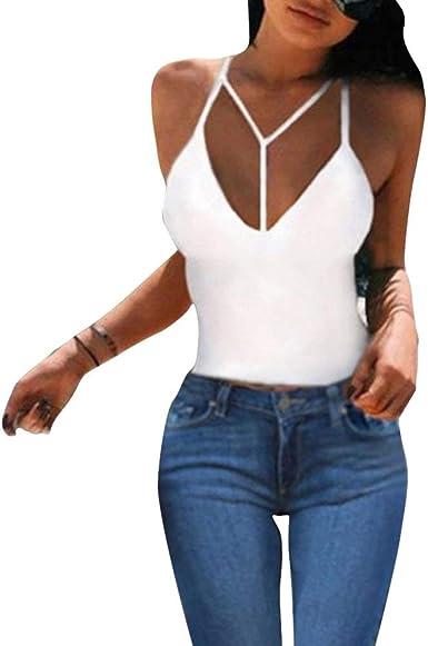 Mujer Camisola Verano Color Sólido Festival Chalecos Espalda ...