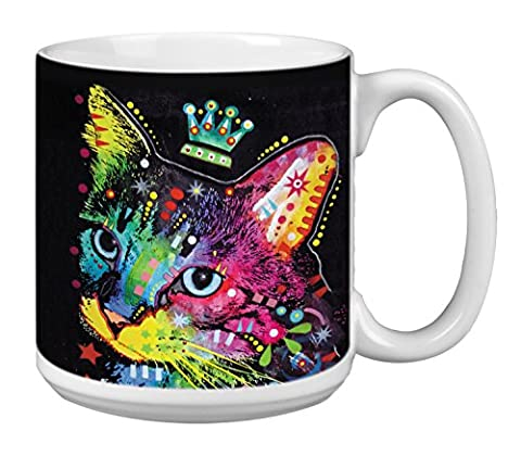 The Duchess Cute Cat Extra Large Mug 20-Ounce Jumbo Ceramic Coffee Cup, Themed Dean Russo Art - Gift for Kitten Lovers (XM63196) Tree-Free - Animal Handle Mug